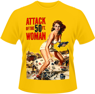 Idee regalo T-Shirt uomo Attack of the 50ft Woman. Poster Plastic Head