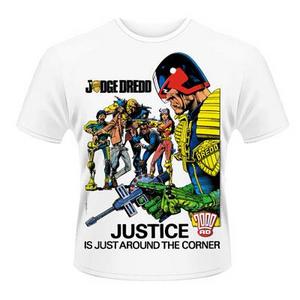 Idee regalo T-Shirt unisex 2000ad Judge Dredd. Justice Plastic Head