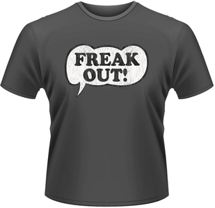 Idee regalo T-Shirt uomo Frank Zappa. Freak Out Logo Plastic Head