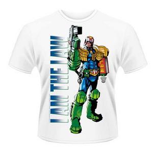 Idee regalo T-Shirt unisex 2000ad Judge Dredd. I Am the Law 2 Plastic Head