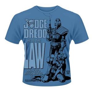 Idee regalo T-Shirt unisex 2000ad Judge Dredd. He Is the Law Plastic Head