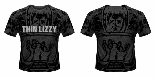 Idee regalo T-Shirt unisex Thin Lizzy. Jailbreak All Over Print Plastic Head