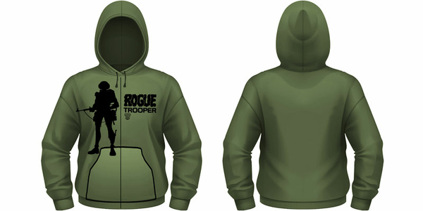Idee regalo Felpa zip con cappuccio 2000ad Rogue Trooper. Rogue Trooper 1 Plastic Head