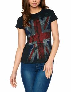 T-Shirt donna Dc Originals. Batman Retro Union Jack Logo
