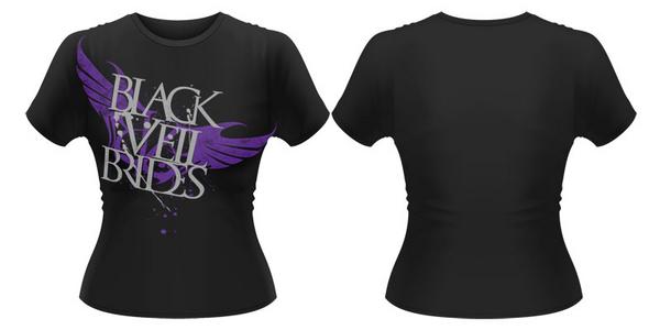 Idee regalo T-Shirt donna Black Veil Brides. Big Wings Plastic Head