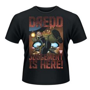 Idee regalo T-Shirt unisex 2000ad Judge Dredd. Judgement Is Here Plastic Head