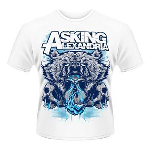 Idee regalo T-shirt unisex Asking Alexandria. Bear Skull Plastic Head