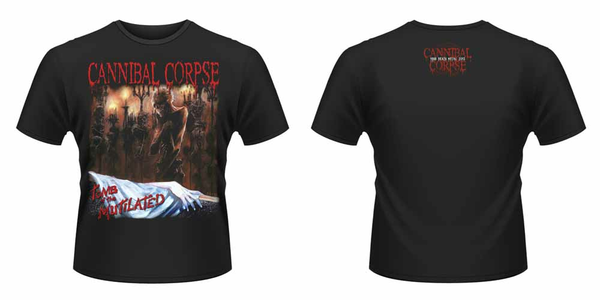 Idee regalo T-Shirt unisex Cannibal Corpse. Tomb of The Mutilated Front & Back Print Plastic Head