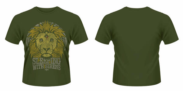 T-Shirt unisex Sleeping With Sirens. Lion Crest
