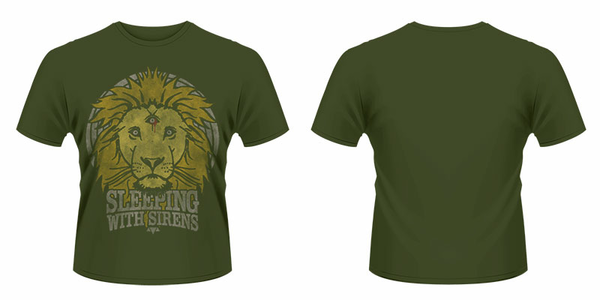 Idee regalo T-Shirt unisex Sleeping With Sirens. Lion Crest Plastic Head