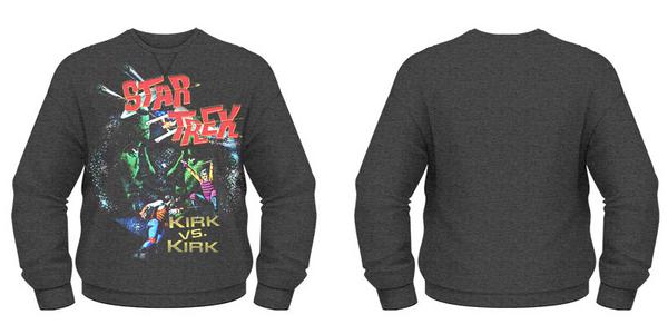 Idee regalo Felpa Girocollo Star Trek. Kirk Vs Kirk Plastic Head