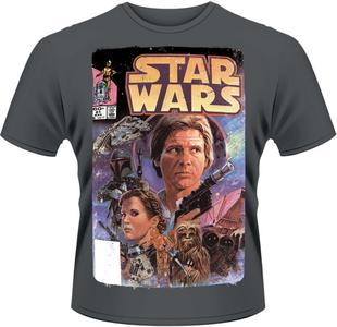 Idee regalo T-Shirt uomo Star Wars. Comic Plastic Head