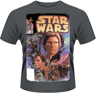 Idee regalo T-Shirt uomo Star Wars. Comic Plastic Head