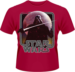 Idee regalo T-Shirt uomo Star Wars. Vader Lightsaber Plastic Head