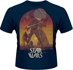 Idee regalo T-Shirt uomo Star Wars. Sunset Poster Plastic Head