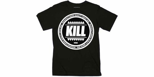 T-Shirt Unisex Kill Brand. Swag Logo Circle