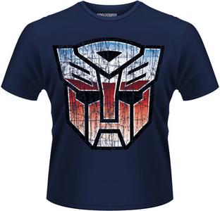 Idee regalo T-Shirt uomo Transformers. Autobot Shield Plastic Head