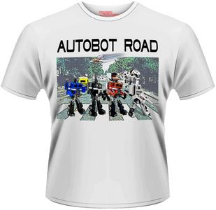 Idee regalo T-Shirt uomo Transformers. Autobot Road Plastic Head