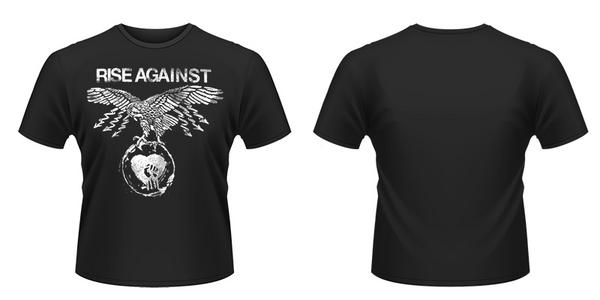 Idee regalo T-Shirt unisex Rise Against. Patriot Plastic Head