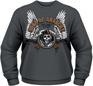 Felpa uomo Sons of Anarchy. Winged Reaper