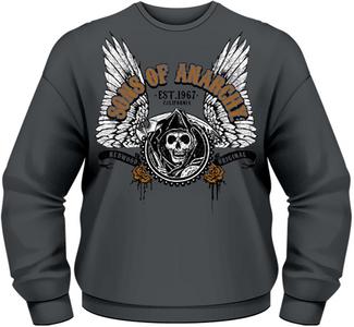 Idee regalo Felpa uomo Sons of Anarchy. Winged Reaper Plastic Head
