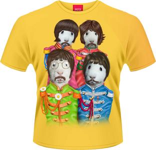 Idee regalo T-Shirt uomo Pets Rock. Fab Four Plastic Head