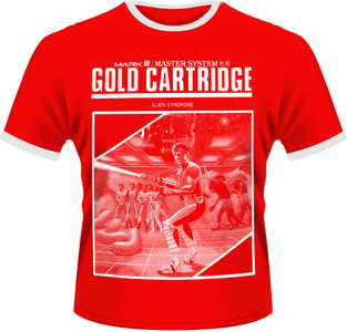 Idee regalo T-Shirt uomo Sega. Gold Cartridge Plastic Head