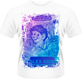 Idee regalo T-Shirt uomo Sega. Alex Kidd Cover Plastic Head