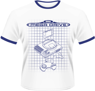 Idee regalo T-Shirt uomo Sega. Megadrive Line Plastic Head