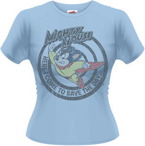 T-Shirt donna Mighty Mouse. Save the Day