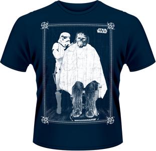 Idee regalo T-Shirt uomo Star Wars. Chewie Haircut Plastic Head