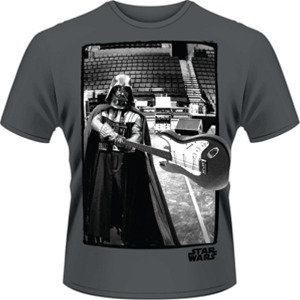 Idee regalo T-Shirt uomo Star Wars. Vader Guitar Plastic Head