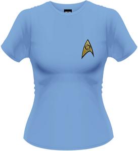 Idee regalo T-Shirt donna Star Trek. Sciences Plastic Head