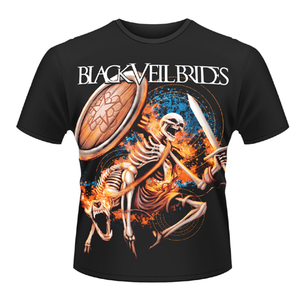 Idee regalo T-shirt unisex Black Veil Brides. Skelewarrior Plastic Head