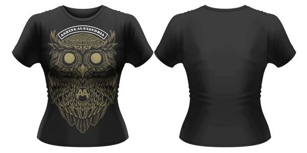 Idee regalo T-Shirt donna Asking Alexandria. Owl Plastic Head
