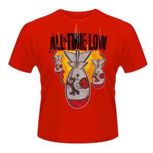 Idee regalo T-shirt unisex All Time Low. Da Bomb Plastic Head