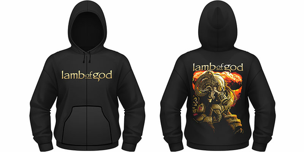 Idee regalo Felpa con Cappuccio Lamb Of God. Anime Plastic Head
