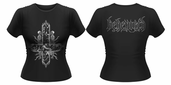 Idee regalo T-Shirt donna Behemoth. Inverted Cross Plastic Head
