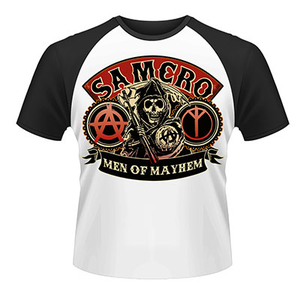 Idee regalo T-Shirt uomo Sons of Anarchy. Samcro Reaper Plastic Head