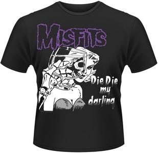 Idee regalo T-Shirt uomo Misfits. Die Die My Darling Plastic Head