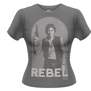 Idee regalo T-Shirt donna Star Wars. Han Rebel Plastic Head