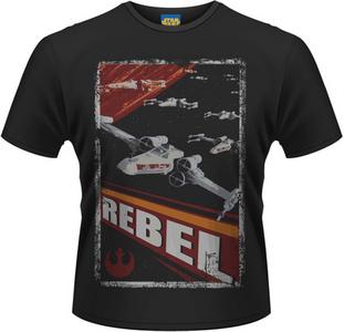 Idee regalo T-Shirt uomo Star Wars. Rebel Plastic Head