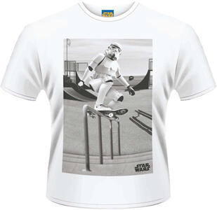 T-Shirt uomo Star Wars. Storm Trooper Skater