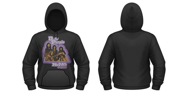 Idee regalo Felpa con Cappuccio Deep Purple. Black Night Japan Plastic Head