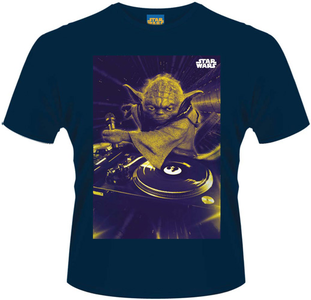 Idee regalo T-Shirt uomo Star Wars. DJ Yoda Plastic Head