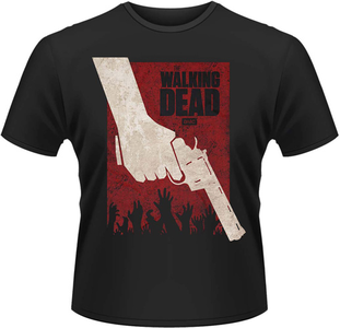 Idee regalo T-Shirt uomo Walking Dead. Revolver Plastic Head
