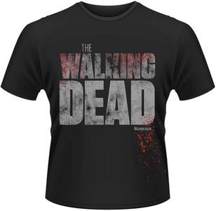 Idee regalo T-Shirt uomo Walking Dead. Splatter Plastic Head