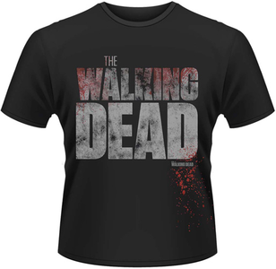 Idee regalo T-Shirt uomo Walking Dead. Splatter Plastic Head