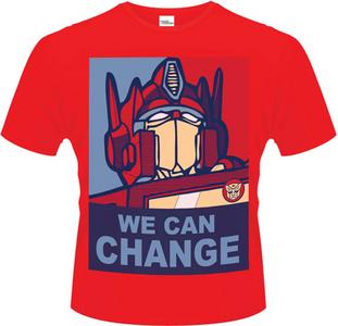 Idee regalo T-Shirt uomo Transformers. We Can Change Plastic Head