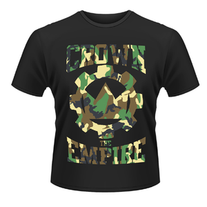 Idee regalo T-shirt unisex Crown The Empire. Run And Hide Plastic Head